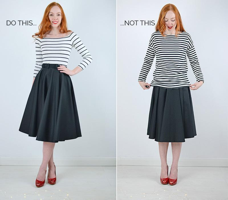 white and blue press 5 ways to master the midi skirt