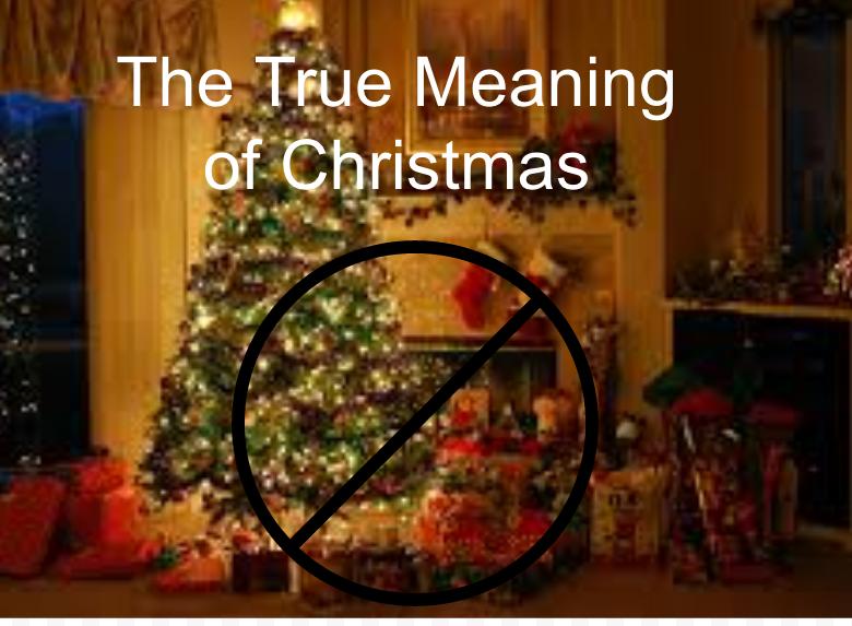 Christmas ≠ Gifts